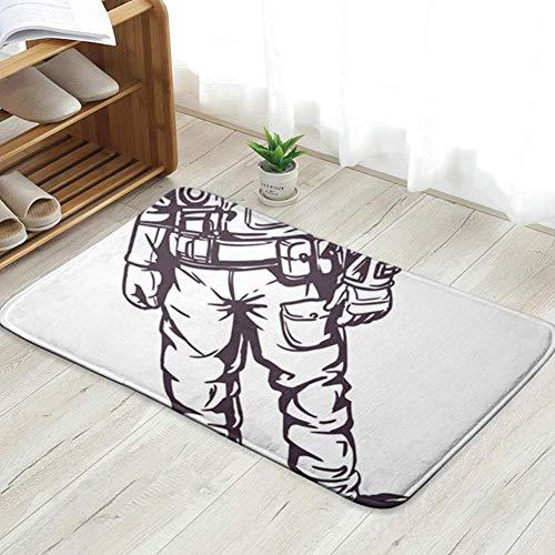 Nach Kostüm Der Erde - Pillow Socks Astronaut Spaceman Suit White The Arts Advertising Technology Fun Welcome Doormat Personalized Indoor Floor Mats Living Room Bedroom Bathroom Door Mat 23.6 X 15.8 Inch