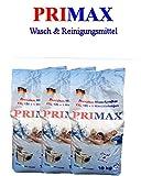 3 x 10 Kg Primax - Premium Waschpulver mit bunten