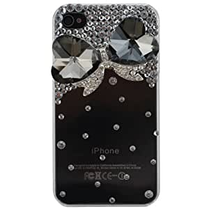 CP IP4PC3AD231 3D Crystal Dazzle Case for iPhone 4/4S - Face Plate - Retail Packaging - Design