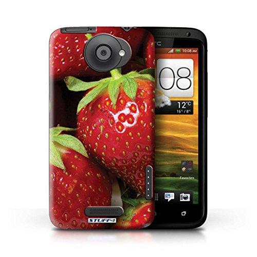 Kobalt® Imprimé Etui / Coque pour HTC One X / Ananas conception / Série Fruits Fraise