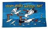 Fahne Geiles Wetter hier Möwe NEU 90 x 150 cm