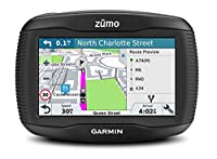 Garmin 010-01602-10 ZUMO 395LM 4.3 inch Motorbike Satellite Navigation with UK, Ireland and Full Europe Maps, Free Lifetime Map Updates, Bluetooth and Car Mount Included - Black