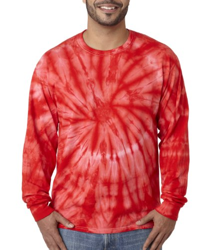 Pliuegy 5.4 oz., 100% Cotton Long-Sleeve d T-Shirt 0Red Spider