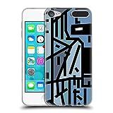 Head Case Designs Offizielle Barruf Hipster Blau Muster Soft Gel Hülle für Apple iPod Touch 6G 6th Gen
