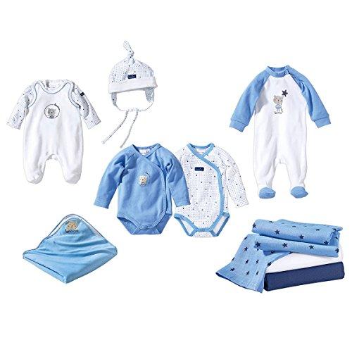 Bornino Erstausstattung für Baby Jungen / 10-teiliges Set Babybekleidung mit...