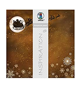 Ursus Papel para álbumes de Recortes, diseño navideño