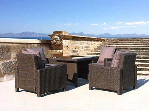 Lounge Set Lanzarote Ibiza 14 tlg mit Esstisch