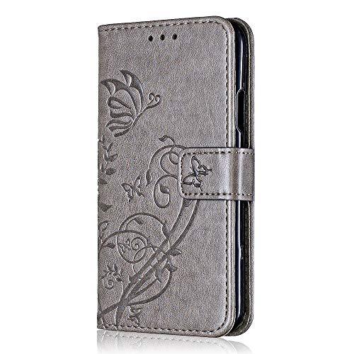 Bear Village® Brieftasche Hülle für Samsung Galaxy A3 2016, Premium Leder Flip Schutzhüllem Galaxy A3 2016 Multifunktion Klappständer Schützthülle mit kartenfächern (#8 Grau) -
