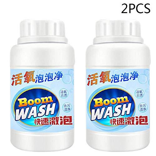 Sauerstoff Reiniger Küchenabflussreiniger Für Starke Reinigung/Ausbaggerung/Desodorierung Sinken Deodorant Sauerstoff-Blasen-Reiniger Schnell Schaumreiniger Toilette Sauberes Wasser 2PCS(A2)