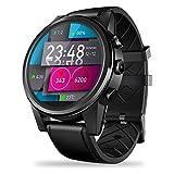 4G SmartWatch 1.6inch 1 + 16GB Speicher Crystal Display GPS/GLONASS Quad Core Hybrid Lederriemen Unterhaltungsanruf Armbanduhr mit 5MP Kamera WiFi BT4.0