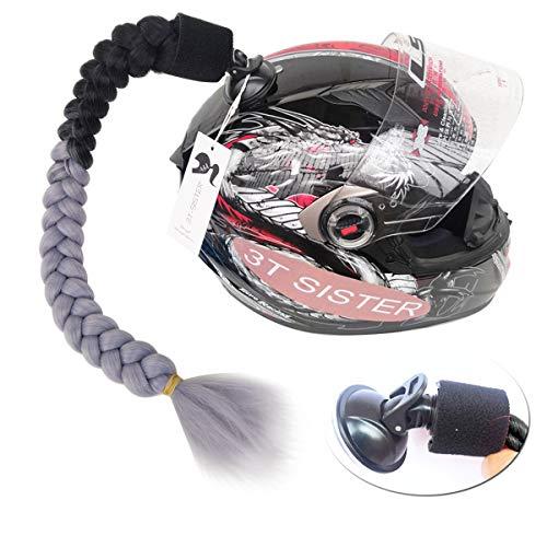 Perücke Kostüm Pigtails - 3T-SISTER Helm geflochtener Pferdeschwanz Verkleiden und Kostüme Perücken und Haarteile für Erwachsene (C006)