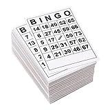Juvale Bingo-Karten – 180 Stück Einweg-Bingo-Spielkarten, Papierspielkarten für Familienabende, Wohltätigkeitsorganisationen, Partys, Schwarz und Weiß, 15,2 x 10,1 cm
