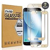 Owbb 2 Pièces Film Protecteur D'écran en Verre Trempé pour Samsung Galaxy J5 2017 (Euro Version) J530 Gold Couverture Complète Protection 99% Haute Transparent Anti-déflagrant