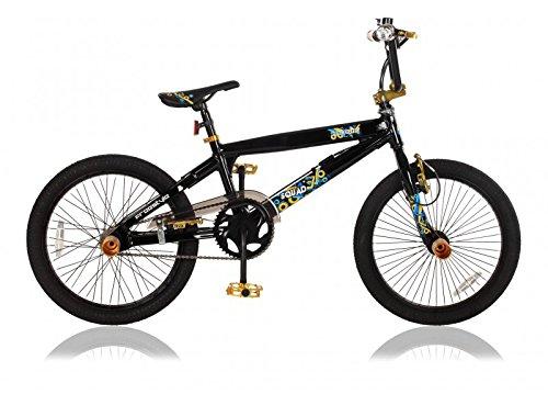 20 ZOLL Alu Aluminium BMX FAHRRAD RAD KINDERFAHRRAD 360° ROTOR Freestyle BIKE SQUAD SCHWARZ