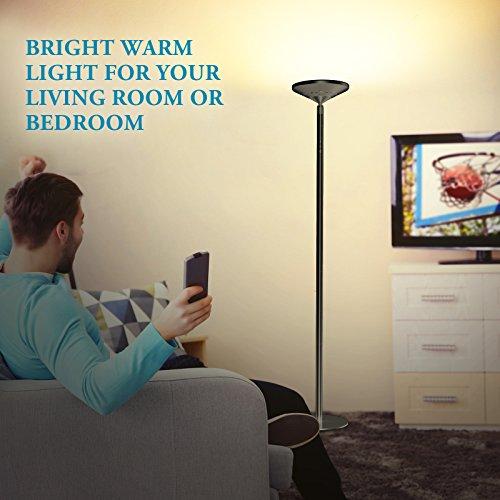 confronta il prezzo Avantica 922B Lampada da Terra con Dimmer 30W -Luce calda, 71inch, 5 Temperature di Colore(3000K-3500K),Controllo Tattile con 30 Minuti Timer,4 Palo della lampada in Metallo Rimovibile, 3750 lumens,per soggiorno, camera da letto miglior prezzo