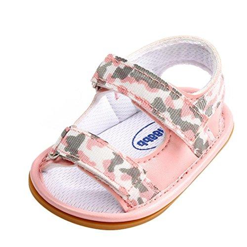 SOMESUN Fashion Kleinkind Baby Mädchen Jungen Sandalen Neugeborenes Kinder Mode Weich Kunstleder Sommer Atmungsaktiv Erster Spaziergang Freizeit Schuhe (5-10 Monate, Rosa) (Jordan-schuhe, Kleinkind, Größe 7)