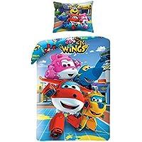 Super Wings Bedding Biancheria da letto per bambini 140x 200cm (Oeko Tex Standard 100)