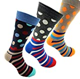 Herrensocken Bunt > Premium Qualität Business Socken - Bunte Herren Socken – Größe 40 bis 45 - Nur für Männer - in2socks (Value Pack #4 - 3 Paar)