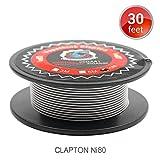 Ni80 Clapton Draht Widerstand Wire, Vapethink Fertigwicklungen Coil AWG26GA+32GA (Ni 80), 10 Meters