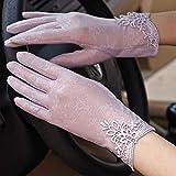 LLUFFY-Gloves Guanti muffola Touch Screen Estivo Protezione Solare Femminile Guida Esterna fonte Equitazione, Viola, Taglia Unica