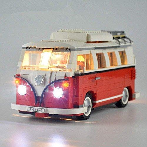 Set de iluminación Led para serie Creador Volkswagen T1 10220 Motorhome Modelo compatible con Lego Building Blocks Toy (NO el conjunto de modelos)