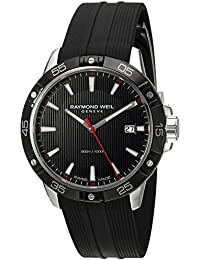Raymond Weil Men's 'Tango' Swiss Quartz Stainless Steel and Rubber Casual Watch, Color:Black (Model: 8160-SR1-20001)