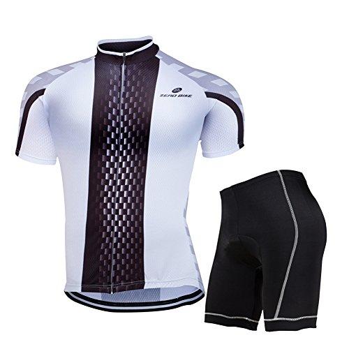 Zero Bike Herren Kurzarm-Radtrikot, atmungsaktiv, 3D gepolsterte Shorts, Sportkleidung, Anzug-Set, atmungsaktiv, schnell trocknend, Herren, Typ 8, XX-Large -