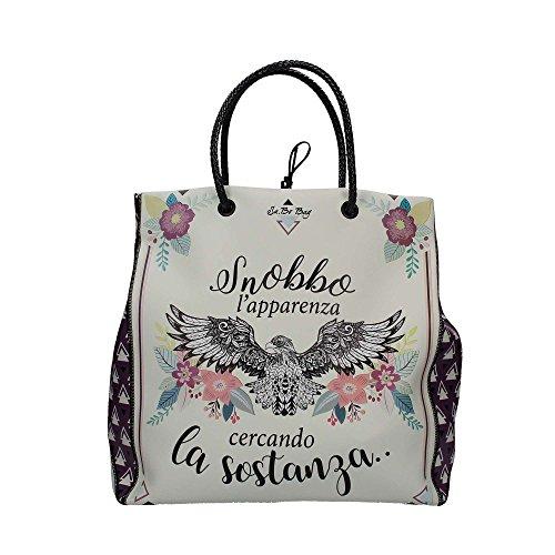 Le Pandorine PE18DAA02160-07 Shopping Bag Donna Bianco