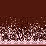 Soimoi Rot japanischer Kreppsatin Stoff Damast & Blätter