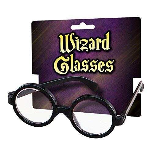 Fancy Dress VIP Schuljunge Klares Glas Brillen Harry Rund Kostüm Zauberer Geek Wally Nerd Retro Scherz Neuheit Brille