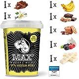 MAX MUSKEL MÜSLI Protein Müsli Low Carb ohne Zucker-Zusatz & Nüsse - to go wenig Kohlenhydrate viel Eiweiss Sportlernahrung für Muskelaufbau & Abnehmen 7er Set Becher Alle Geschmackssorten
