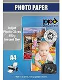 PPD A4 A getto d'inchiostro carta fotografica, alta lucida 180 g/m², asciugatura immediata, impermeabile - 50 fogli