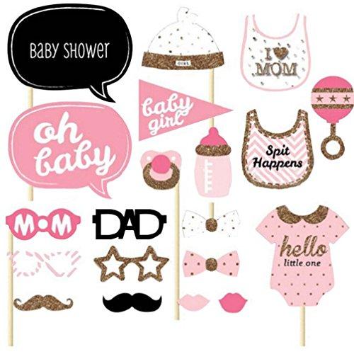HKFV 20pcs Baby-Duschen-Foto-Stand-Stützen kleine Dame Girl New Born (Diy: Kostüm Flamingo)