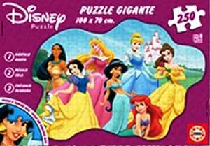 Educa - 12635 - Puzzle Carton Wd Géant 250 pièces - pièces - Disney Princesses