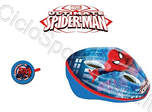 Spiderman Helm + Klingel Kind/Kinder/Mädchen ideal für Fahrrad