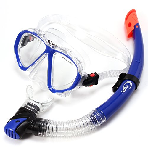 PVC Schnorchel Set Taucherbrille Schnorchel Erwachsene TAUCHERMASKE Set blau