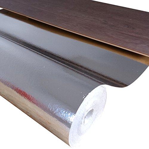 uficell Kombiunterlage Stärke 3,0 mm - Hohe Trittschalldämmung bis 21 dB(A) und Gehschalldämmung für Laminat- und Parkettböden | Sie kaufen 1 Rolle mit (15 m²)