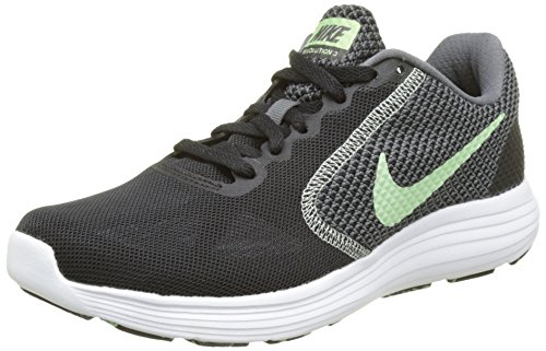 Nike Damen Revolution 3 Laufschuhe, Schwarz (Black/Fresh Mint-White-Dk Grey), 36.5 EU