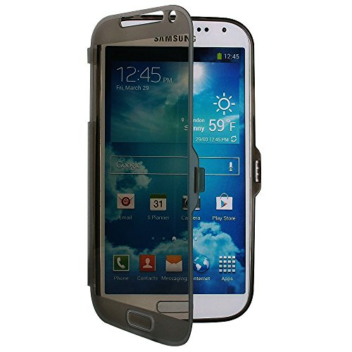 TPU trasparente per Samsung Galaxy Note 2 N7100 Display Touch Smart Cover a rosa nero