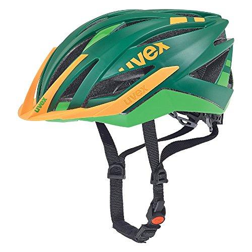 Uvex Fahrradhelm Ultra Snc, Green-Orange Mat, 55-58, 4107730717