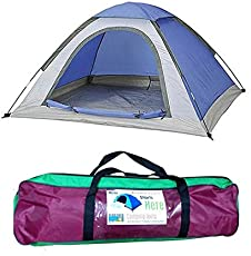 Shlok Enterprises 6-Person Family Camping & Hiking Tent/All Weather Dome Backpacking Tent (Waterproof, with Floor Mat & Net Window), Multi Color