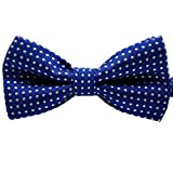 JOYJULY Polka Dots Collar tie Necktie for Pet Dog (Big)Cat, Baby Boys Toddler Pre-tied Bow Tie Adjustable Kids Bowtie,Dark blue