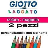2crayons de couleur Giotto laqué mine 3,3mm vrac Couleur Magenta Giotto laqué