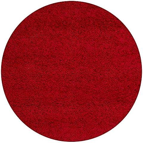Lalee 347168491 Relax 150 - Alfombra alfombra redonda, diámetro 120 cm, color rojo