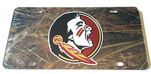 Florida State Seminole verspiegelt Auto Tag-FSU NOLES Camo Camouflage License Plate Fsu Fan-tag