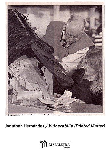 Vulnerabilia (Printed Matter) par Jonathan Hernández