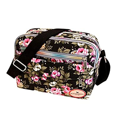 Sale Clearance Women Handbags Halijack Ladies Vintage Printing Canvas Messenger Bag College Girl Casual Travel Purse Cosmetic Bag Summer Beach Bag Small Shoulder Bag Crossbody Bag