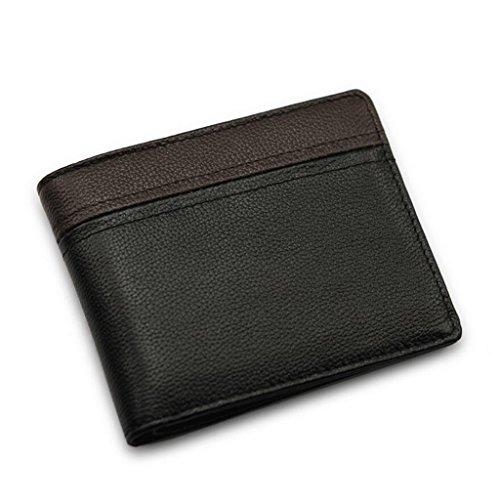 ZLR Portefeuille Pour Hommes Portefeuille en cuir ultra léger pour hommes d'affaires Portefeuille en cuir multi-carte multi-cartes pliable Folding Cross-style