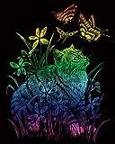 Royal Brosse Rain26Rainbow Foil Gravure Art Kit, Multicolore, 8x 25,4cm