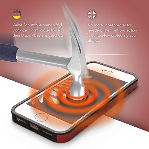 iPhone 6 Plus / 6s Plus Étui, Urcover Full Body Dual Apple iPhone 6 Plus / 6s Plus Coque 360 Degrés Layer TPU + PC Placage [Nouvelle Version] Housse Antichoc Argent Case Rouge